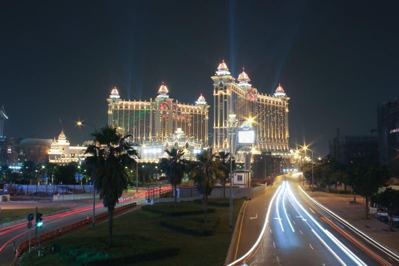 Casino de galaxie à la nuit au Macao photo stock