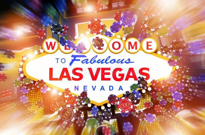 Casino de Las Vegas que joga ilustração do vetor
