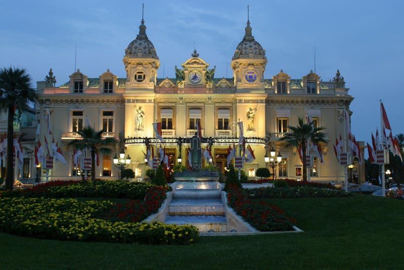 Casino de Mónaco de Night imágenes de archivo libres de regalías