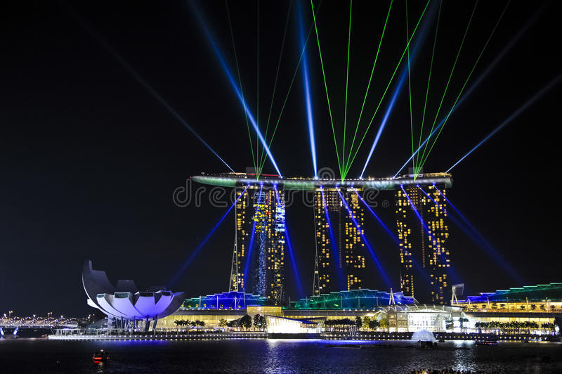Casino de sable d'or, Singapour photographie stock