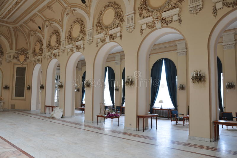 Casino de Sinaia, intérieur photo libre de droits