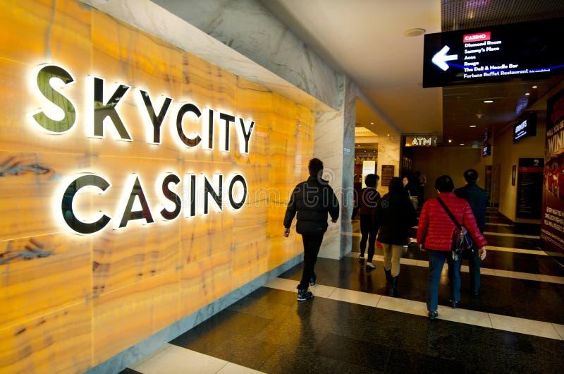Casino de Skycity - Auckland foto de stock royalty free