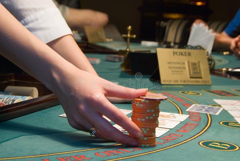 Download Casino Dealer Handling A Big Pile Of Chips Stock Photo - Image: 6609648