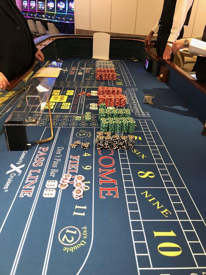 Casino del barco de cruceros fotos de archivo libres de regalías