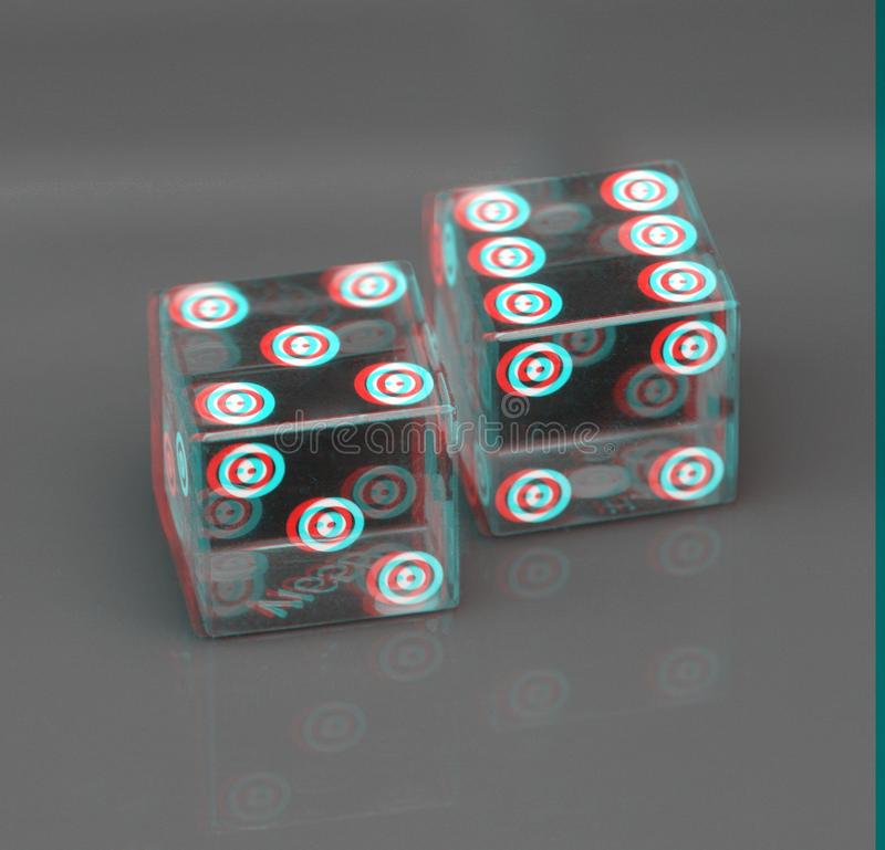 3D Casino Dice Background royalty free stock image