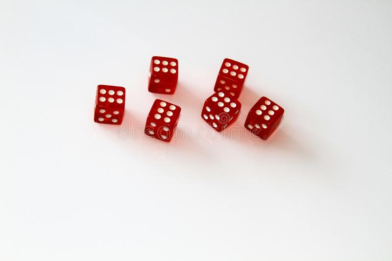 Casino dice isolated on white. set. isolate stock photos