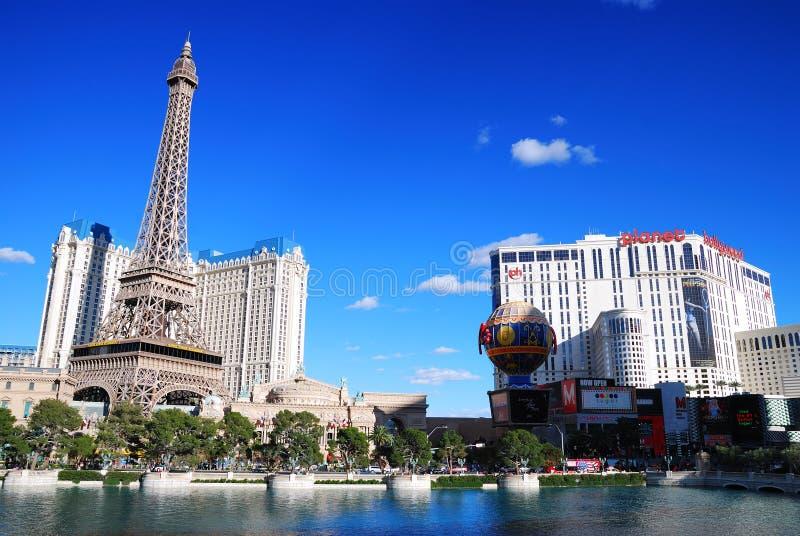 Casino do hotel de Paris e de Hollywood do planeta, Las Vegas imagens de stock royalty free