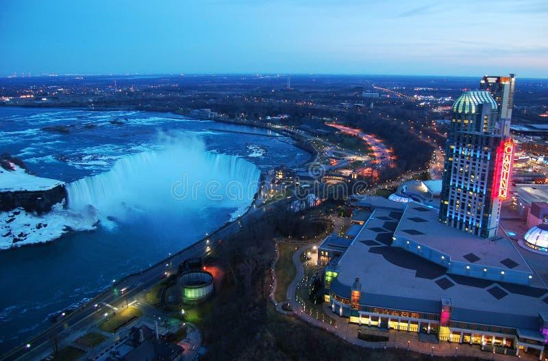 Casino e recursos de Niagara Falls fotografia de stock royalty free