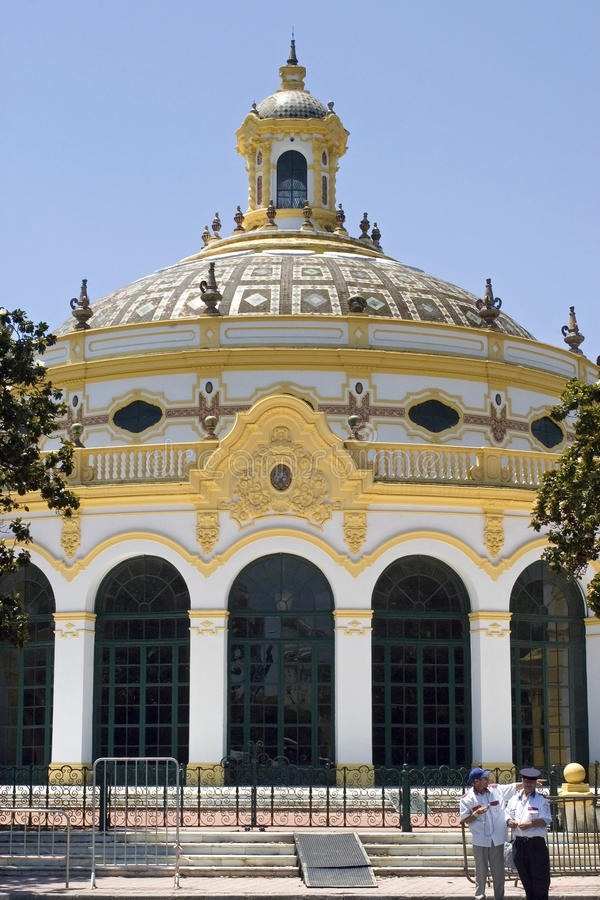 Casino e teatro Lope de Vega, Sevilha, Espanha fotografia de stock royalty free