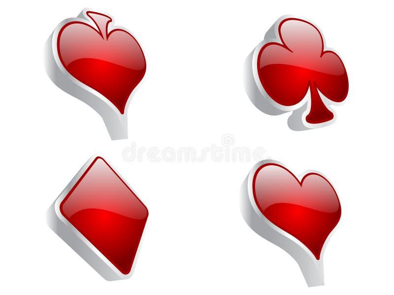 Casino elements vector illustration