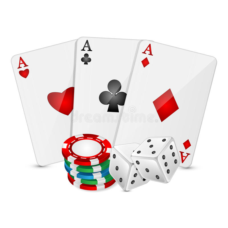 Casino elements. Vector Illustration of a background with casino elements royalty free illustration