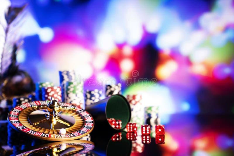 Casino en het gokken, thema en achtergrond stock afbeelding