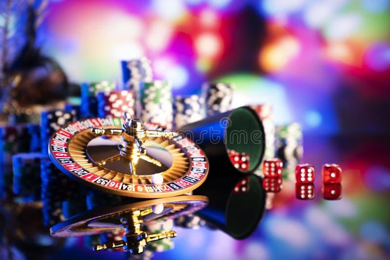 Casino en het gokken, thema en achtergrond stock foto's