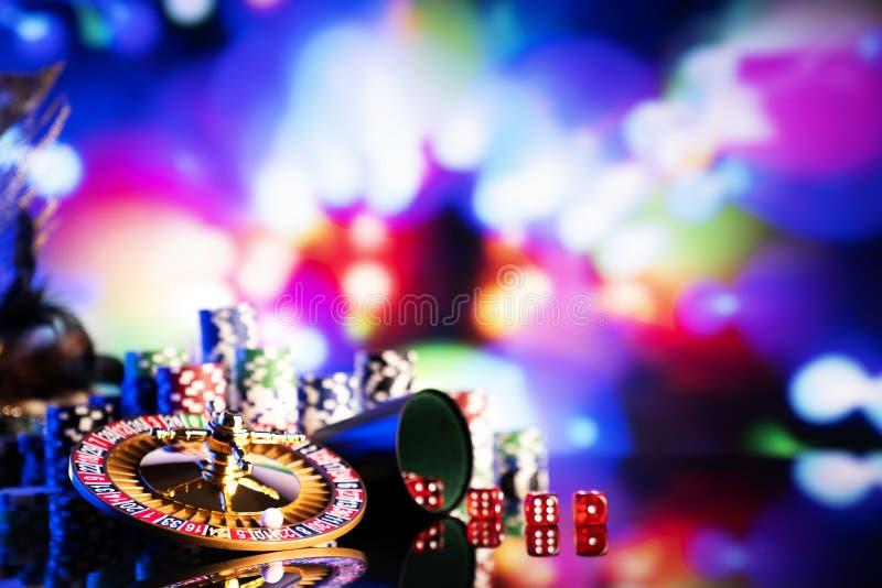 Casino en het gokken, thema en achtergrond royalty-vrije stock fotografie