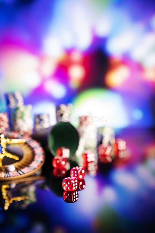 Casino en het gokken, thema en achtergrond stock foto