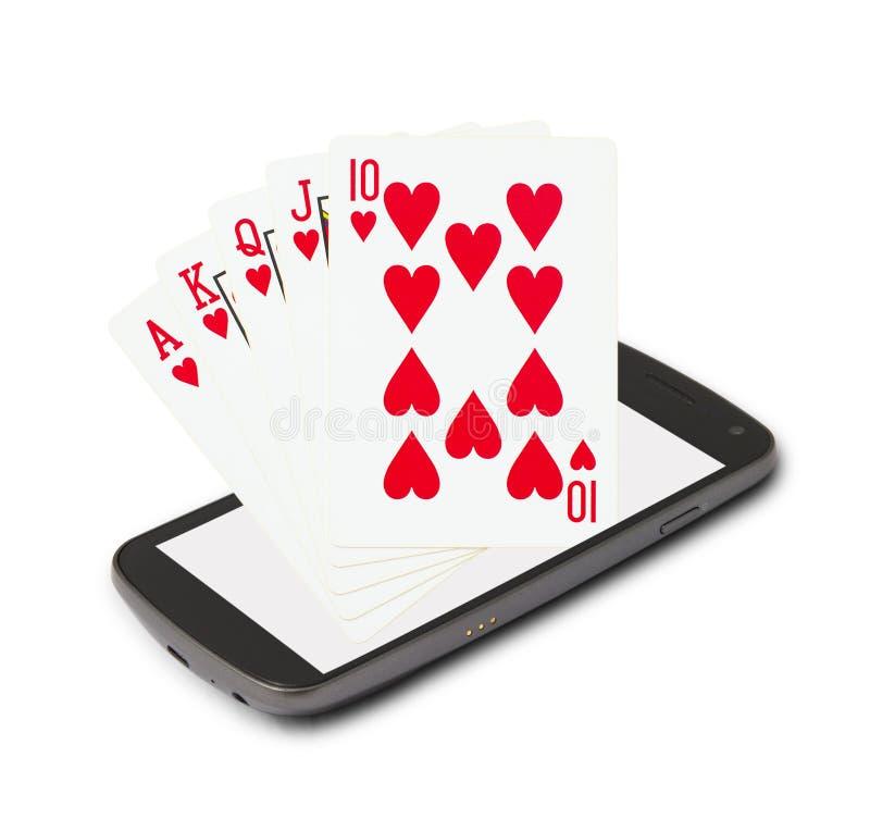 Casino en línea imágenes de archivo libres de regalías