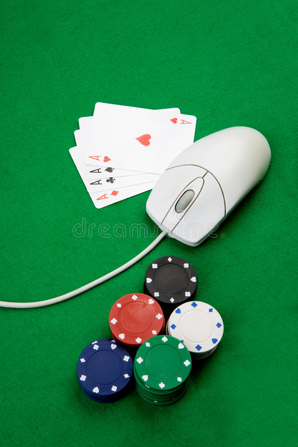 Casino en línea fotografía de archivo