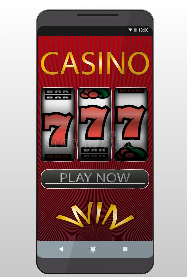 Casino en ligne illustration de vecteur