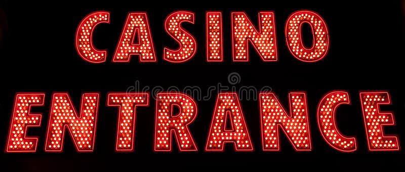 Casino Entrance. Lighting in the dark stock photography