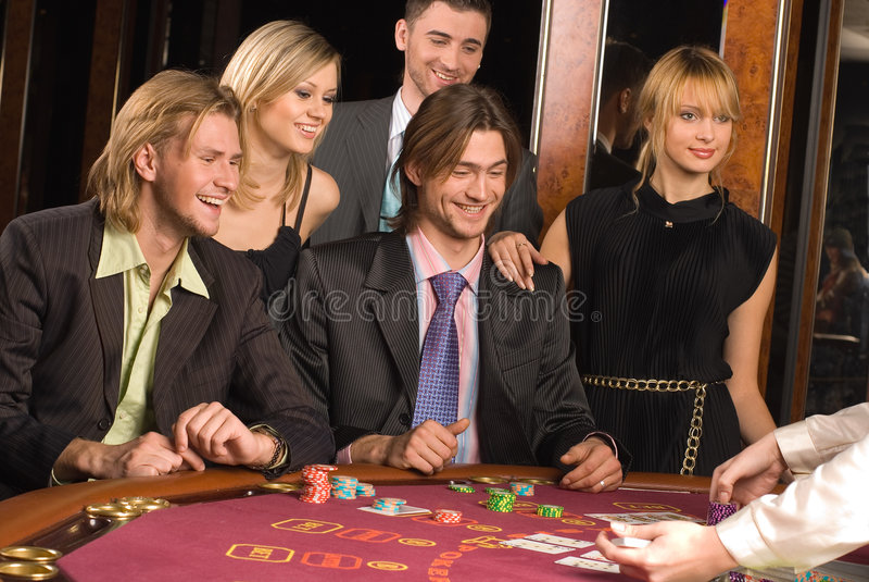 Casino et jeunesse photographie stock libre de droits