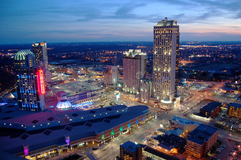 Casino et ressources de Niagara Falls photo stock