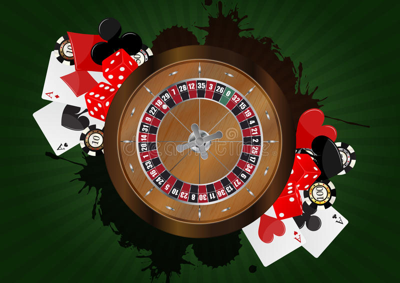 Casino francês da roleta ilustração stock