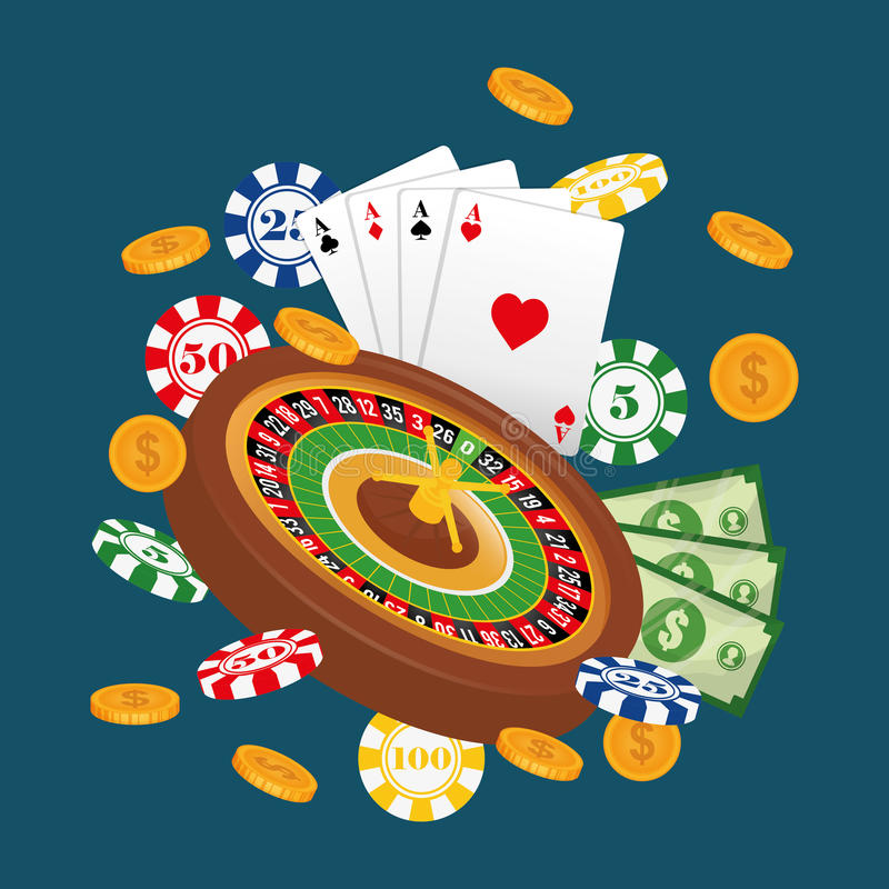 Casino gambling game. Graphic design, vector illustration eps10 vector illustration