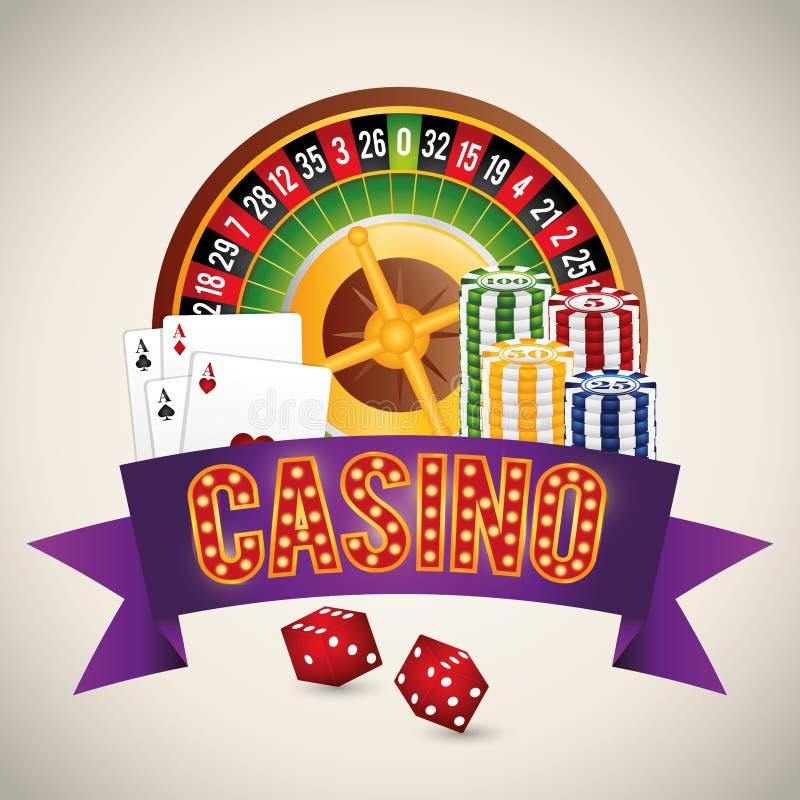 Casino gambling game. Graphic design, vector illustration eps10 royalty free illustration
