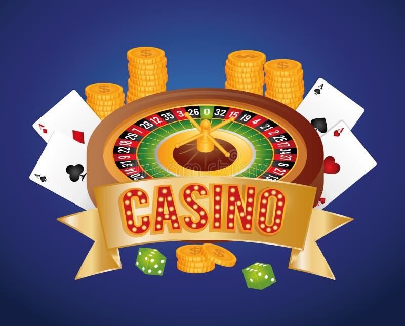 Casino gambling game. Graphic design, vector illustration eps10 stock illustration