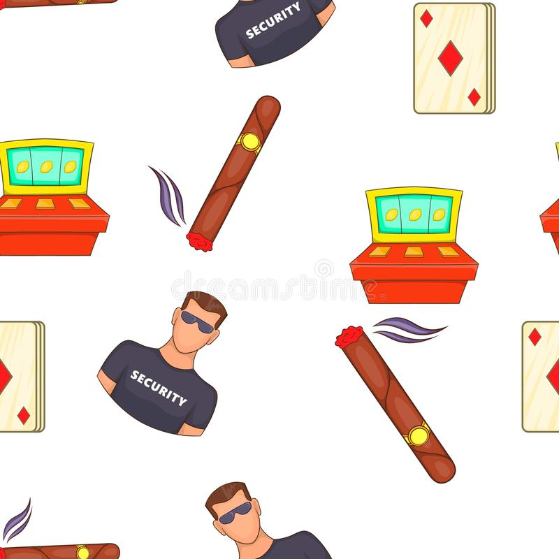 Casino and gambling pattern, cartoon style royalty free illustration