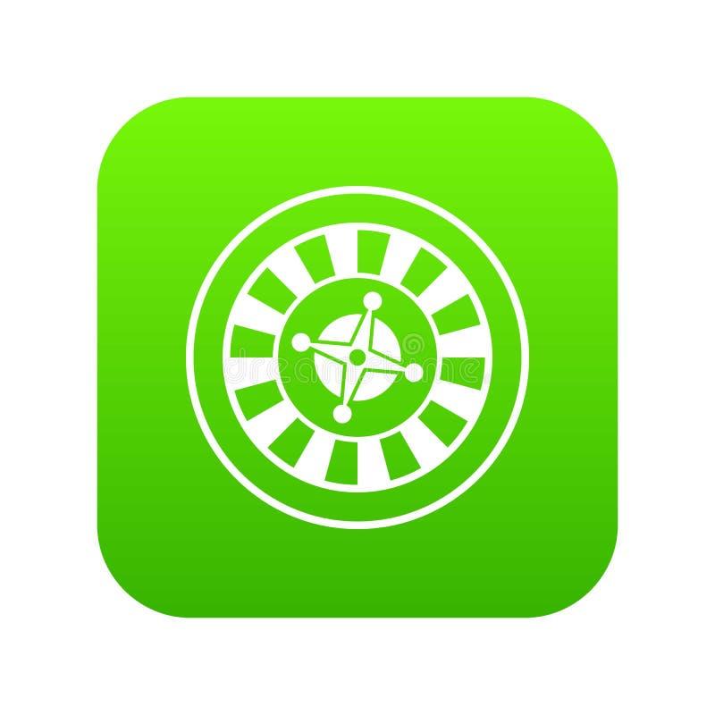 Casino gambling roulette icon digital green. For any design isolated on white vector illustration vector illustration