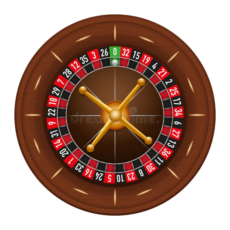 Casino gambling roulette wheel. Illustration isolated on white background vector illustration