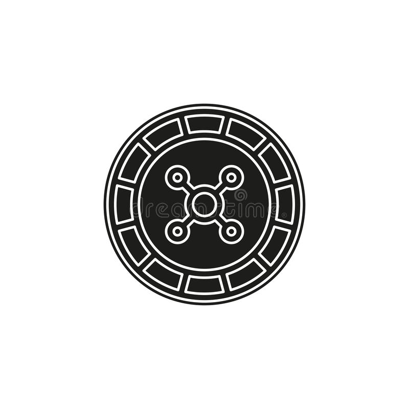 Casino game icon, gambling illustration - vector roulette, roulette machine. Flat pictogram - simple icon vector illustration