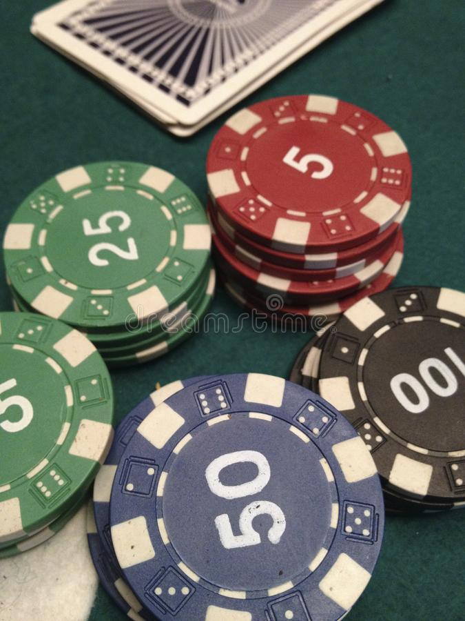 Casino games. Cards game at casino stock photography
