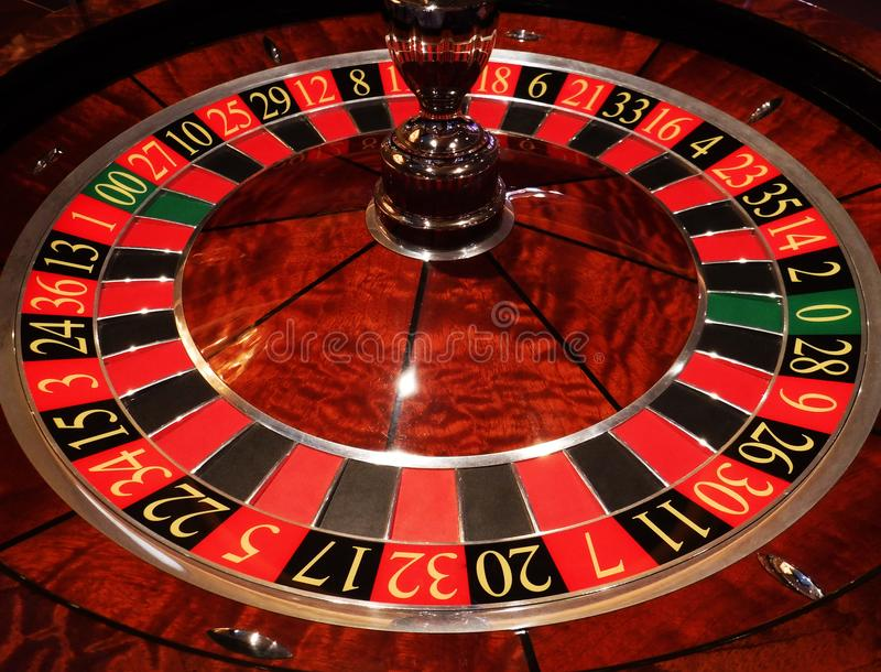Casino roulette wheel royalty free stock images