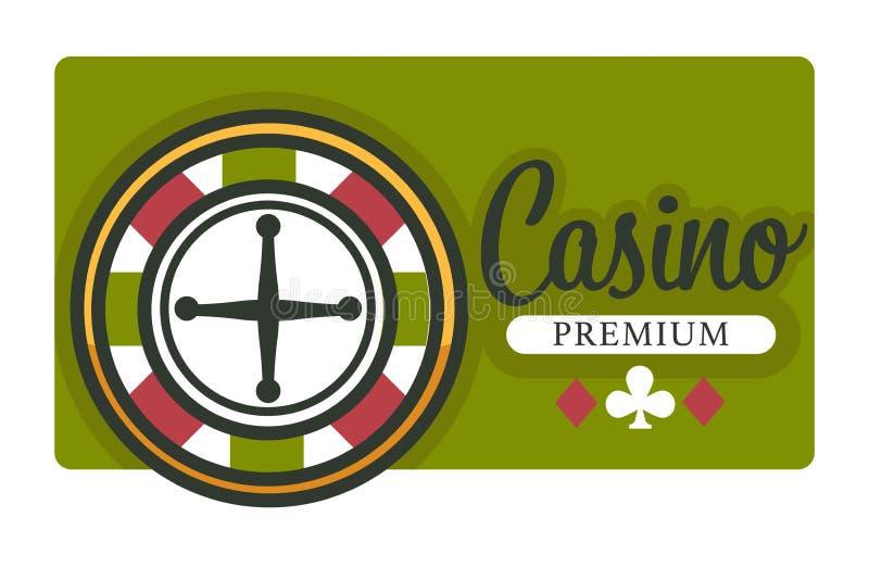Casino geïsoleerde het wiel en het spelkaartenkostuums van de pictogramroulette stock illustratie