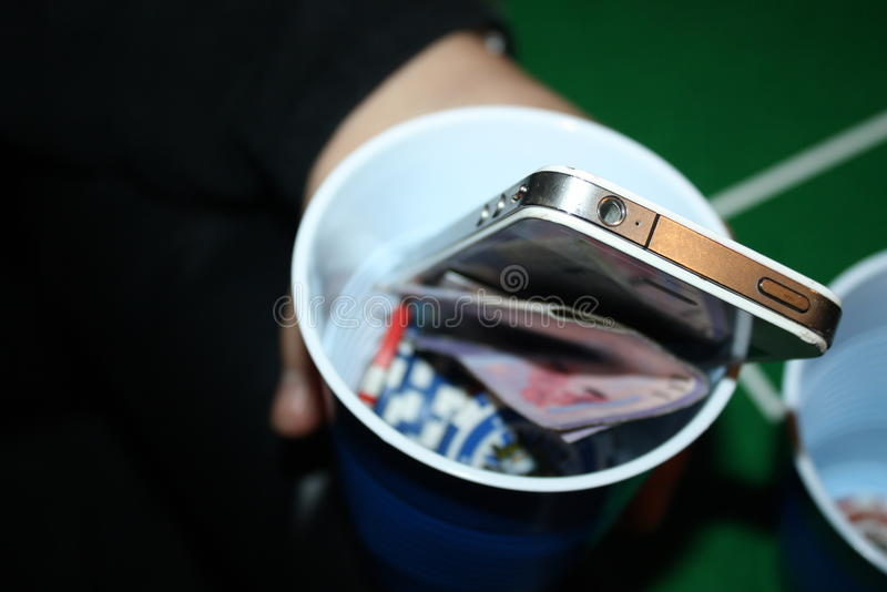 Casino goers cup stock photos