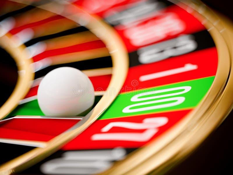 Casino gold roulette close up stock illustration