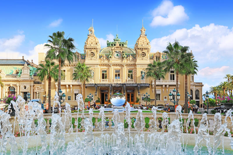 Casino grand en Monte Carlo, Monaco images stock