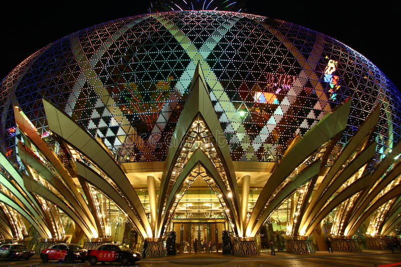 Casino Grand Lisboa in Macau stock image