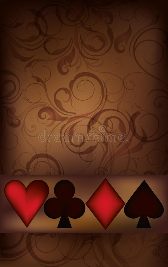 Casino greeting card with poker elements vector illustration