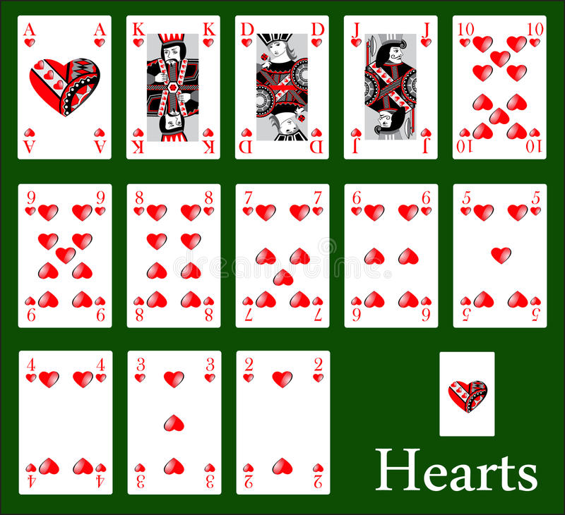 Download Casino hearts stock vector. Illustration of vegas, deck - 27742612