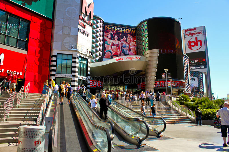 Casino de Hollywood del planeta, Las Vegas, nanovoltio. fotografía de archivo libre de regalías