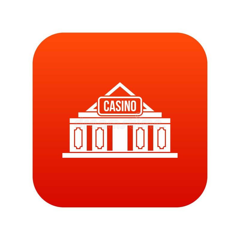 Download Casino Het Digitale Rood Van Het De Bouwpictogram Vector Illustratie - Illustratie bestaande uit gambling, weddenschap: 107707601