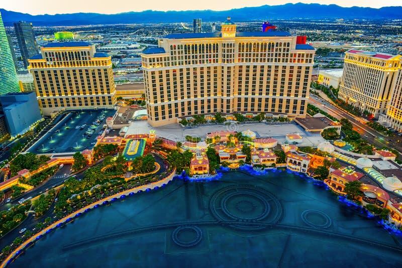 Casino, hotel e recurso-Bellagio Las Vegas imagens de stock royalty free
