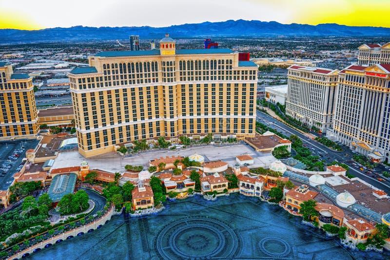 Casino, hotel and resort-Bellagio. Las Vegas royalty free stock image