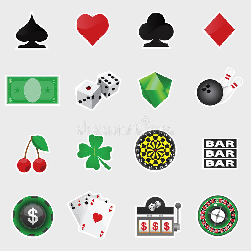 Download Casino Icon Set stock vector. Image of dice, risk, gambling - 40767583
