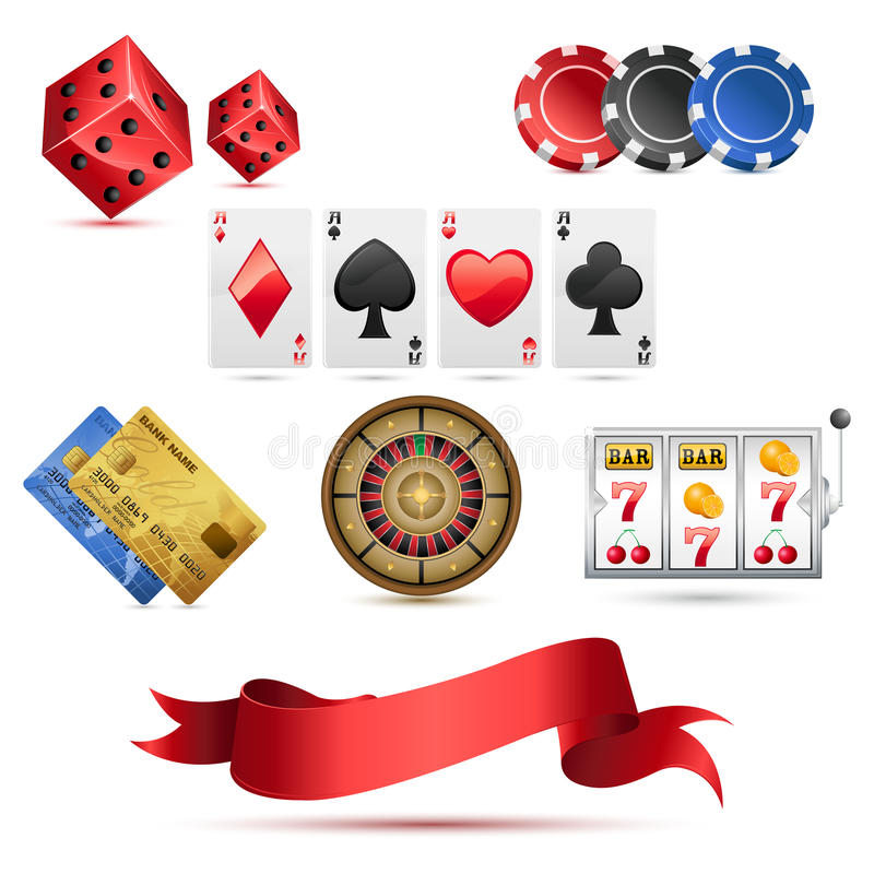 Download Casino Icons stock vector. Illustration of card, gold - 18457932