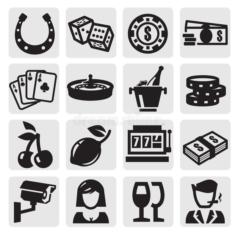Casino icons royalty free illustration