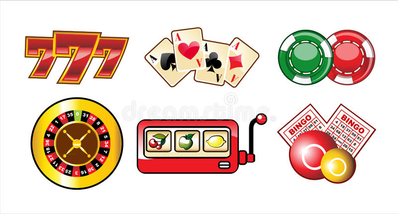 Download Casino icons set stock vector. Image of buttons, fortune - 16624826